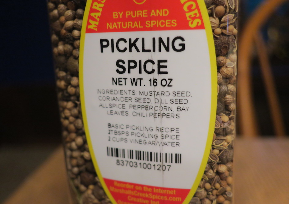 pickling spice ingredients
