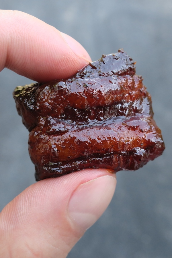 pork belly burnt end close-up