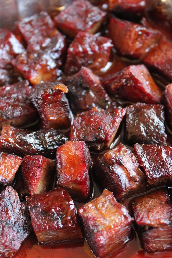 close-up of poor mans burnt ends